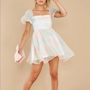 Pastel puff dress